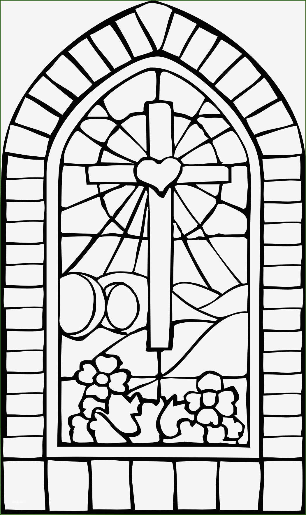 Unusual Stained Glass Window Template In 2020 Cross Coloring Page Easter Coloring Pages Easter Sunday School
