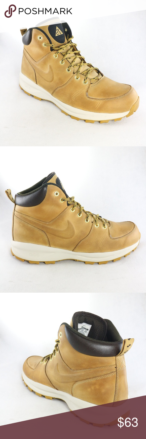 alta calidad promoción color atractivo NIKE ACG Manoa Haystack Leather Hiking Boots | Leather hiking ...