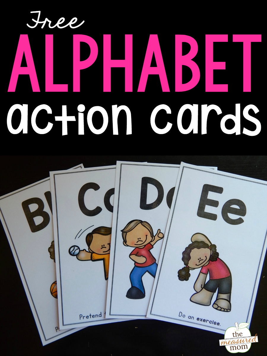 Alphabet Action Cards Alphabet Preschool Alphabet Activities Learning Letters [ 1200 x 900 Pixel ]