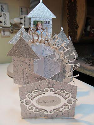 Calla Lily Studio Blog Cascading Castle Birthday Card Birthday Cards Cards Cascading Card