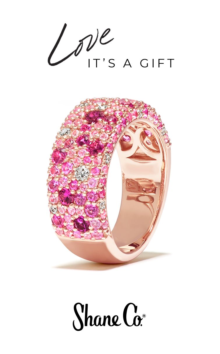 Pink Sapphire and Diamond Ring in Rose Gold | Earrings Bvlgari ...