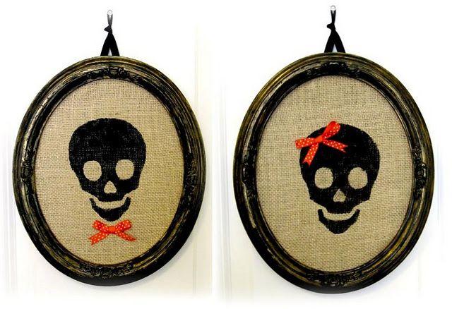 Adorable skeleton portraits #skeleton #burlap