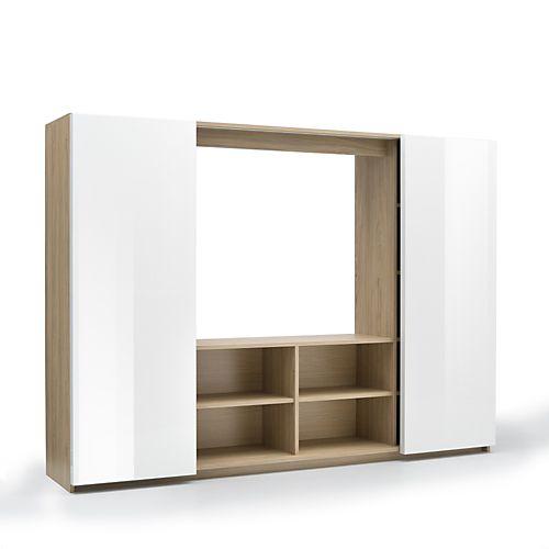 Arsene - Meubles télé-Meubles, Accessoires TV Living 2 portes - porte d armoire coulissante