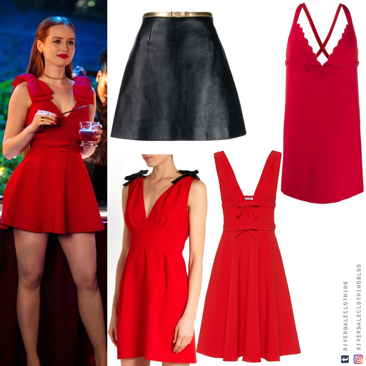 33++ Red bow dress information