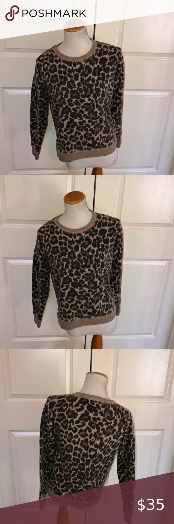 J Crew Leopard Print Crew Neck Sweatshirt J Crew Leopard Print Crew Neck Sweatshirt Size Small Great Conditi Crew Neck Sweatshirt Leopard Print Sweatshirts [ 1740 x 580 Pixel ]