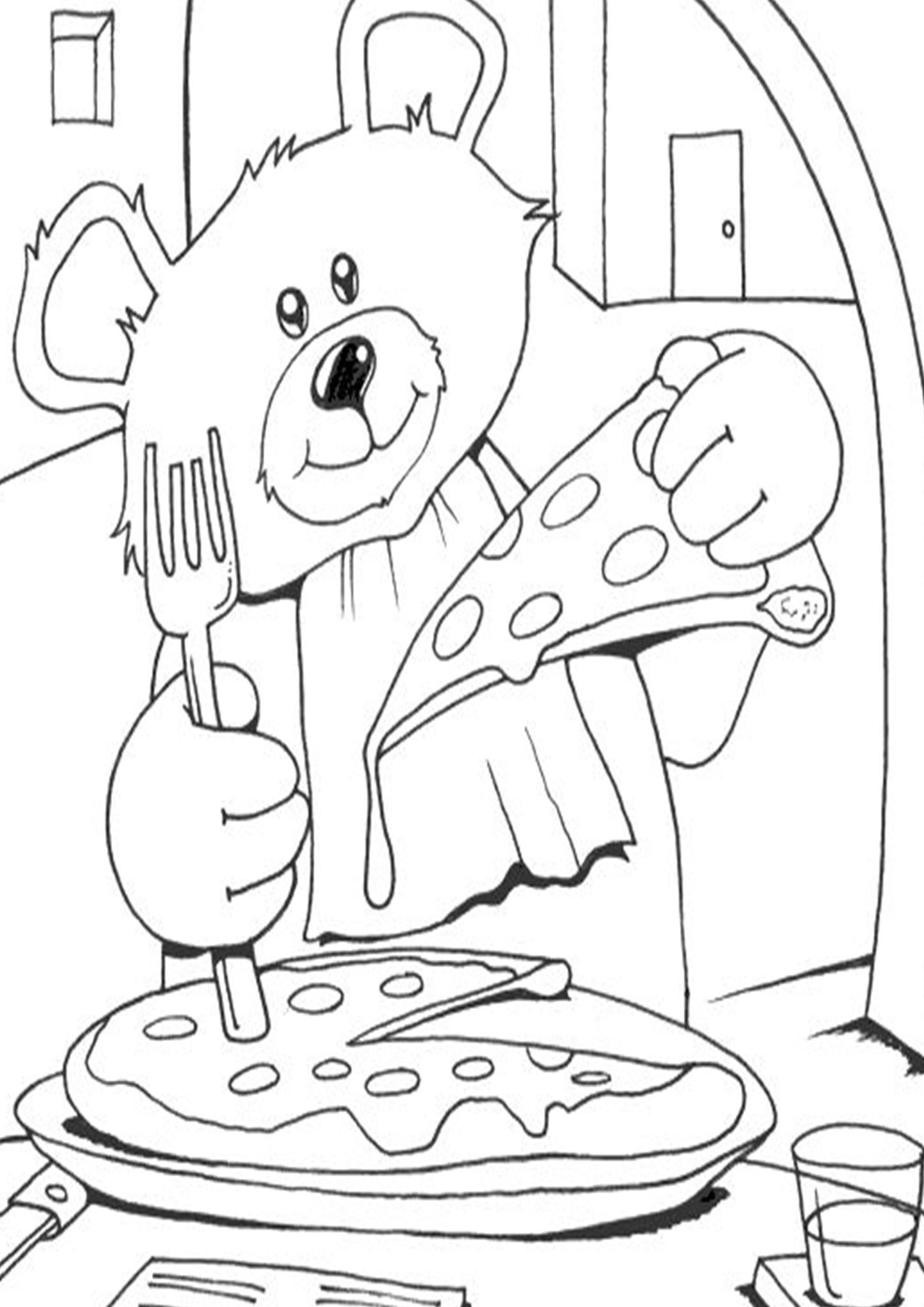 Free Easy To Print Pizza Coloring Pages Pizza Coloring Page Teddy Bear Coloring Pages Bear Coloring Pages