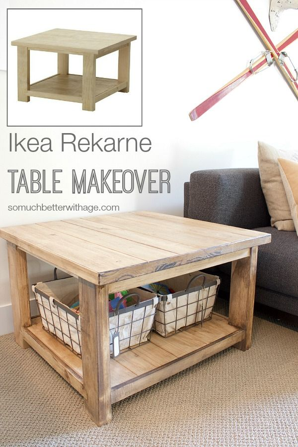 Ikea Rekarne table makeover | somuchbetterwithage.com
