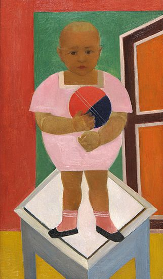 Child with a Ball (Taņa) Aleksandra Beļcova 1924.