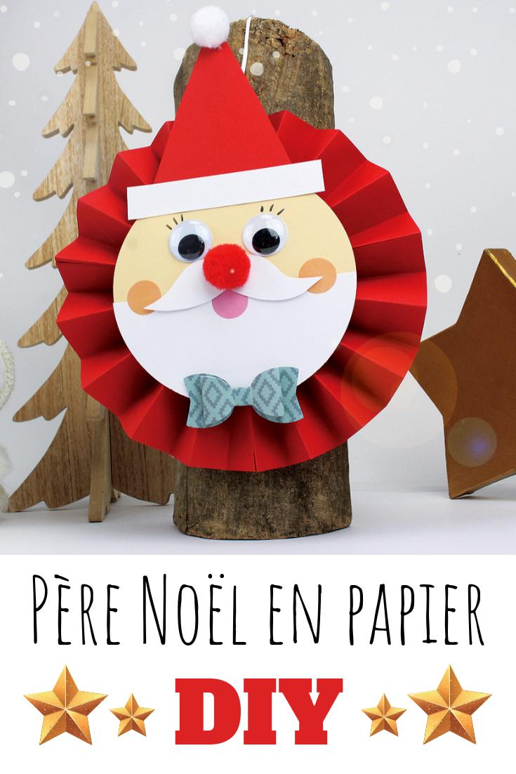 Père Noël en papier tout rond et tout mignon , Noël