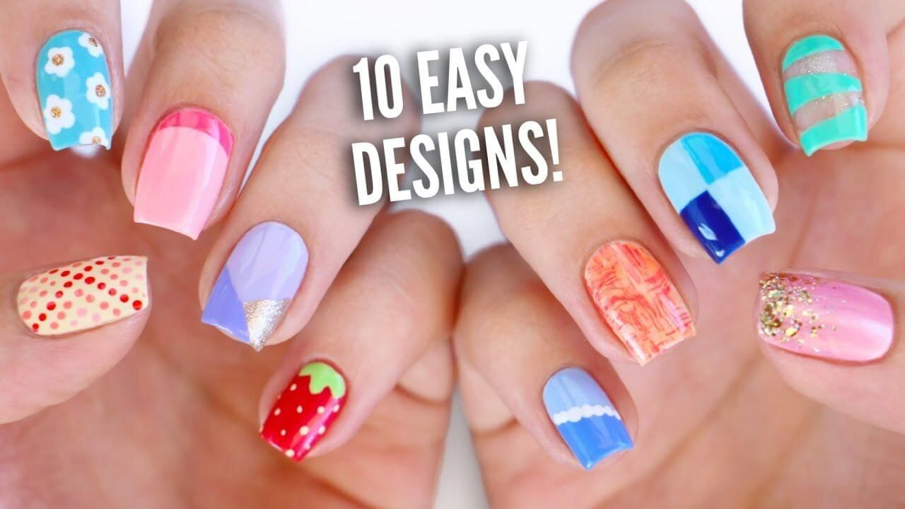 10 DIY Nail Art Designs Using HOUSEHOLD ITEMS! | The Ultimate Guide ...