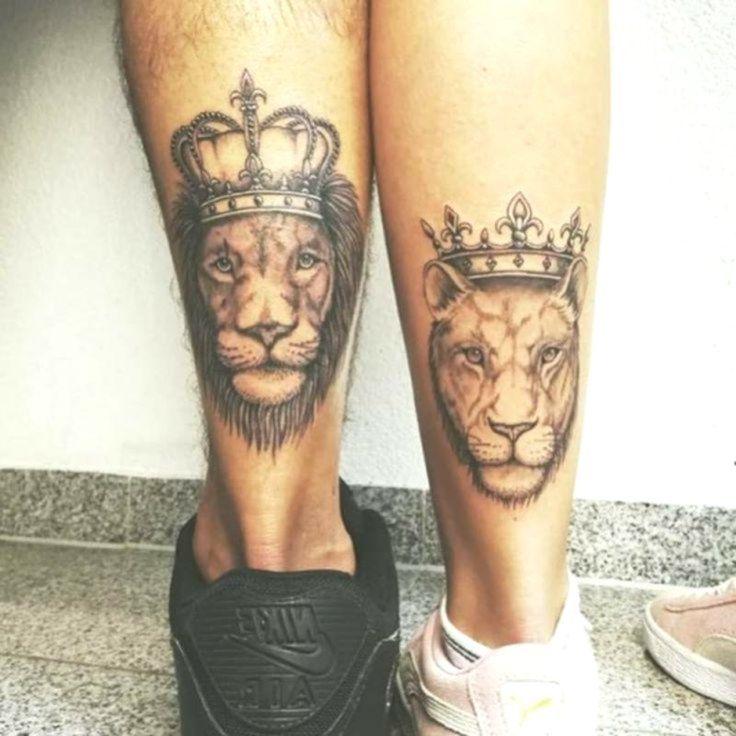 Paare, die Tätowierungen für Valentinstag zusammenbringen #shintattoo #lion #liontattoo #tatt ... - #die #für #Lion #liontattoo #Paare #shintattoo #Tätowierungen #tatt #Valentinstag #zusammenbringen