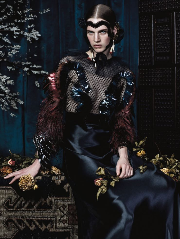Anna Ewers, Ashleigh Good, Sam Rollinson by Josh Olins for Vogue UK December 2013 1