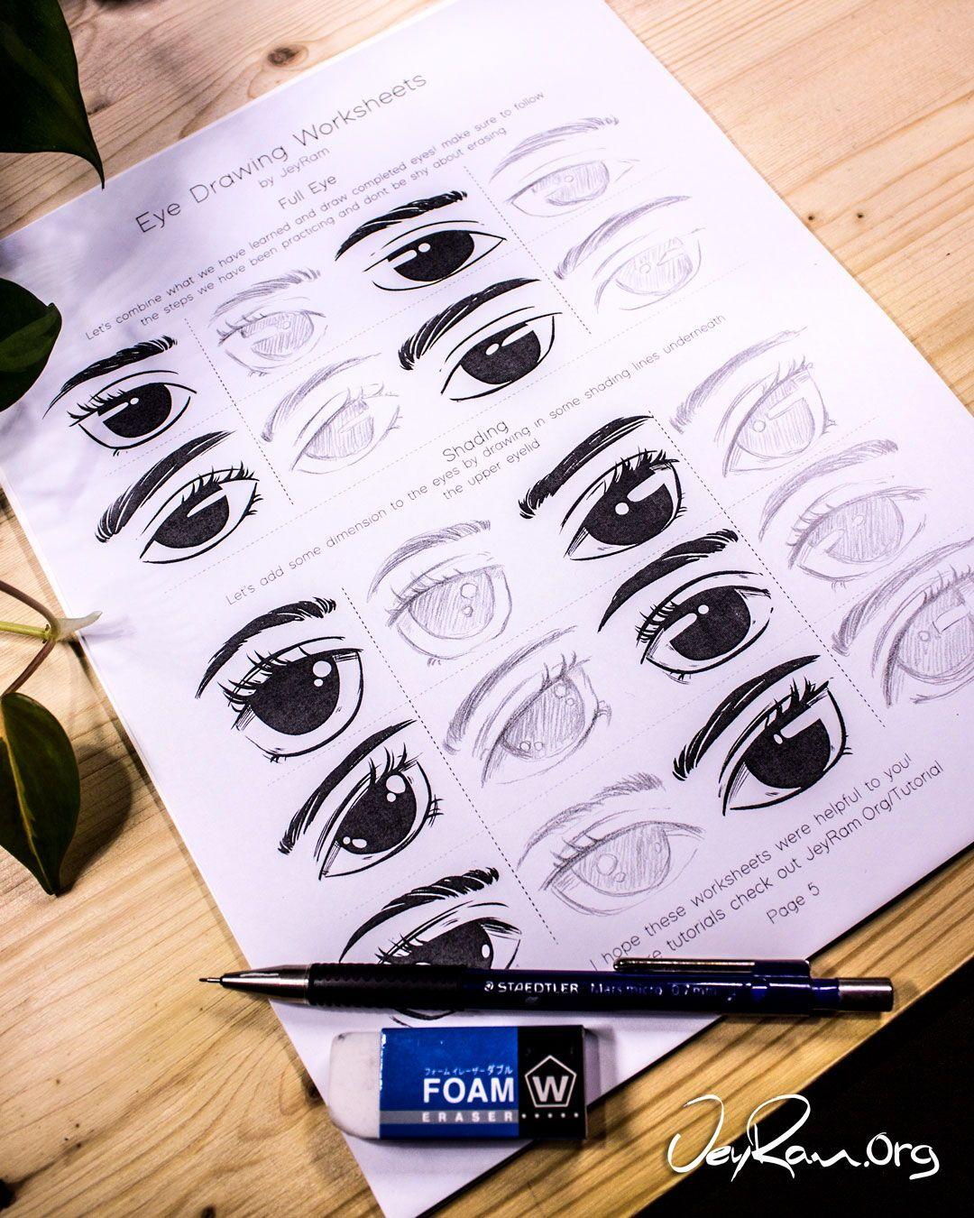 How To Draw Eyes Free Printable Workbook