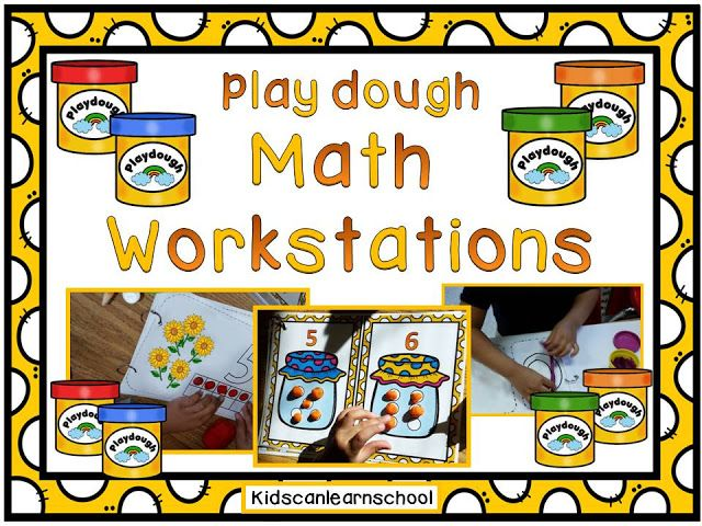 Kidscanlearnschool:    Play Dough Math Workstations English Spanish