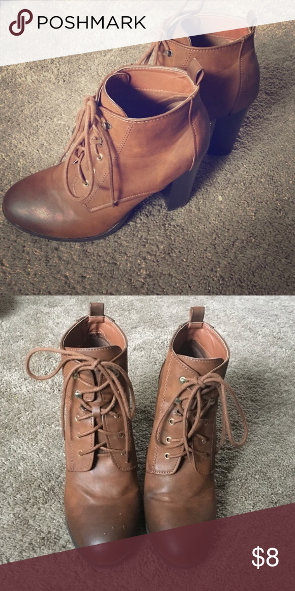 Quipd lace up booties Reselling these because they were too high for my liking. Very cute boot though! Qupid Shoes Lace Up Boots