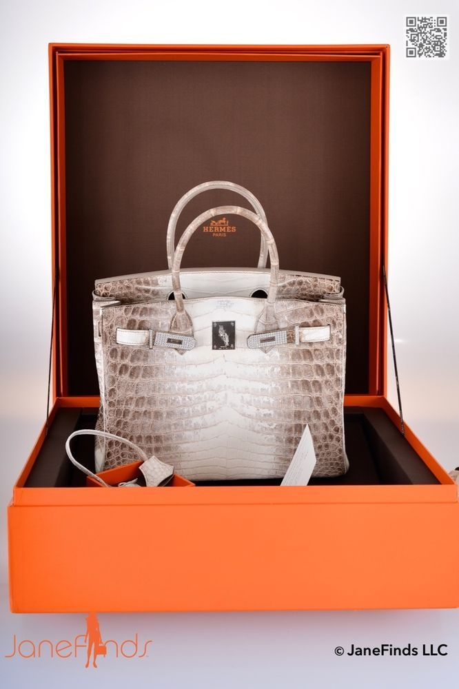 e93c71b8707 ONE   ONLY HERMES BIRKIN BAG 30cm MATTE HIMALAYAN CROCODILE 18K   DIAMOND  not far off £300,000.00