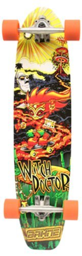 Bahne Witch Doctor Mini Longboard Skateboard (35-Inch) by Bahne. $59.99. 35-Inch Mini Longboard, easy to transport, featuring a classic graphic and 7 ply all hardwood maple deck, rugged aluminum trucks and durable 70mm PU wheels. Bahne puts out one over on the conventional wisdom of the skate world with the ''Witch Doctor''. A classic Bahne graphic gets hitched to a Hot Rod of a high quality performance Longboard and it's affordable to boot This is the one board that can go an...