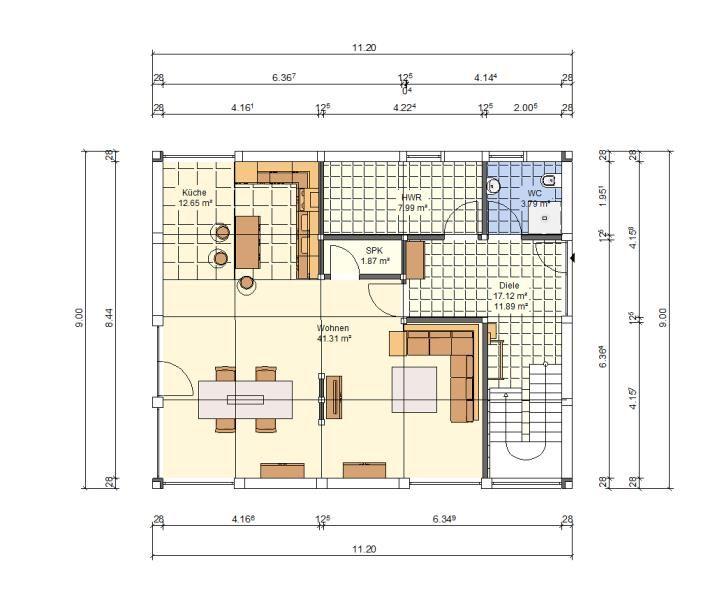 Modernes Fachwerkhaus Berlin 145 Haus Grundriss