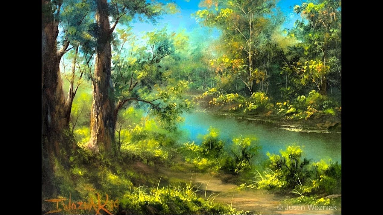 Live painting how to paint a landscape from memory