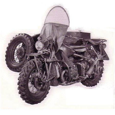740cc horizontally-opposed Harley-Davidson XA with sidecar