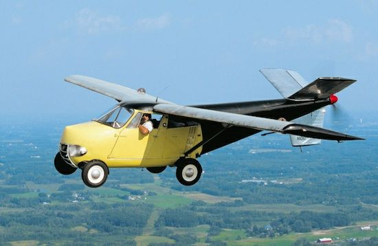 The Aerocar was designed by Moulton Taylor in 1949 and only five were ever produced. In order to take flight the Aerocar must be converted into an aircraft with wings that fold forward.