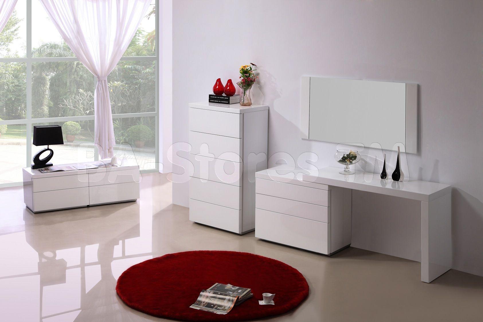 Elegant Design : Barcelona Contemporary White Bedroom Furniture Modern Sets