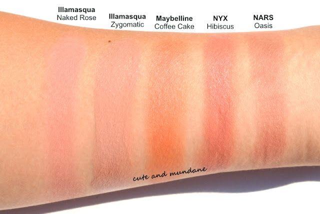 Cute And Mundane Illamasqua Zygomatic Cream Blusher Review Swatches Blusher Swatch Cream