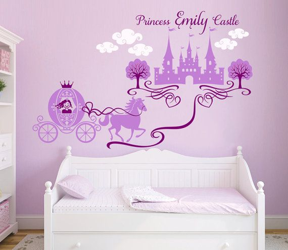 Princess Castle Personalized Name Decal, Nursery Decal, Girlu0027s Room Decal, Castle  Wall Sticker Part 62