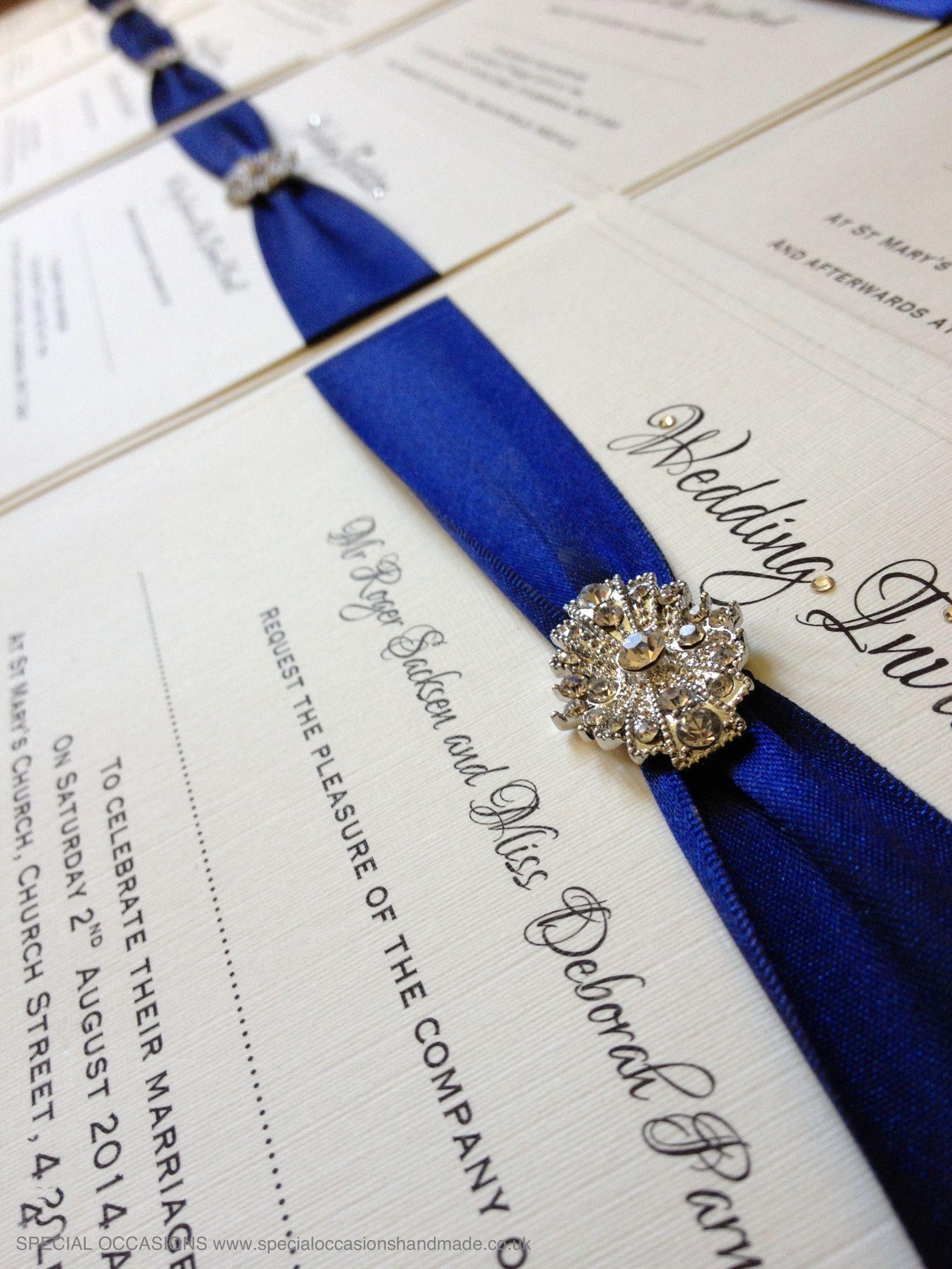 Wedding Invitation with Swarovski crystal accents www ...