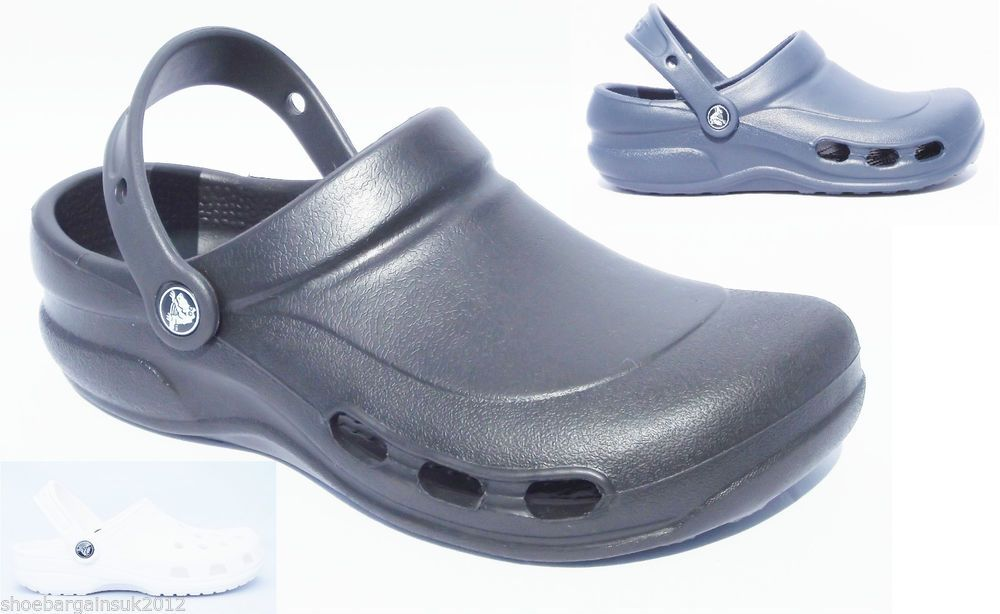 Unisex Mens Womens Boys Girls Crocs White Navy Black Flat Beach Sandals UK 4- 12 New In! From Only £16.99 with fast and free postage!
