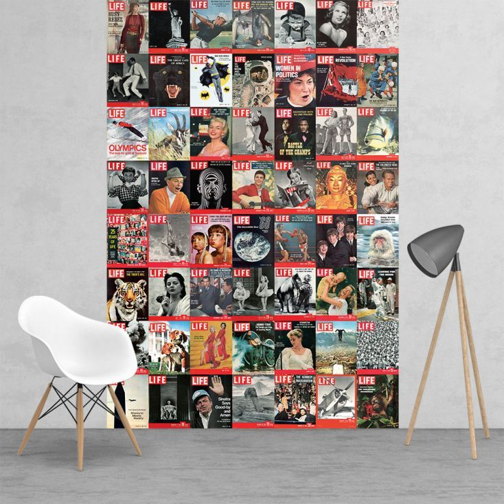 Vintage Wall Murals Life Magazine Covers Modern