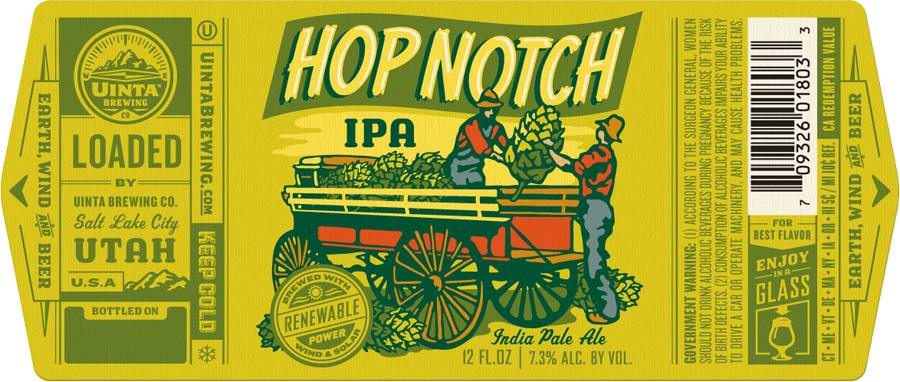 uinta brewing company hop notch label beer pinterest beer