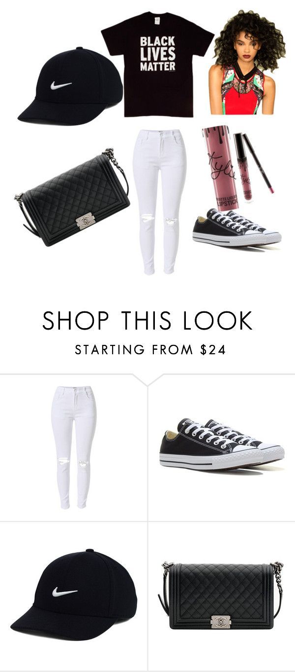 """life"" by westisha on Polyvore featuring Converse, NIKE and Chanel"