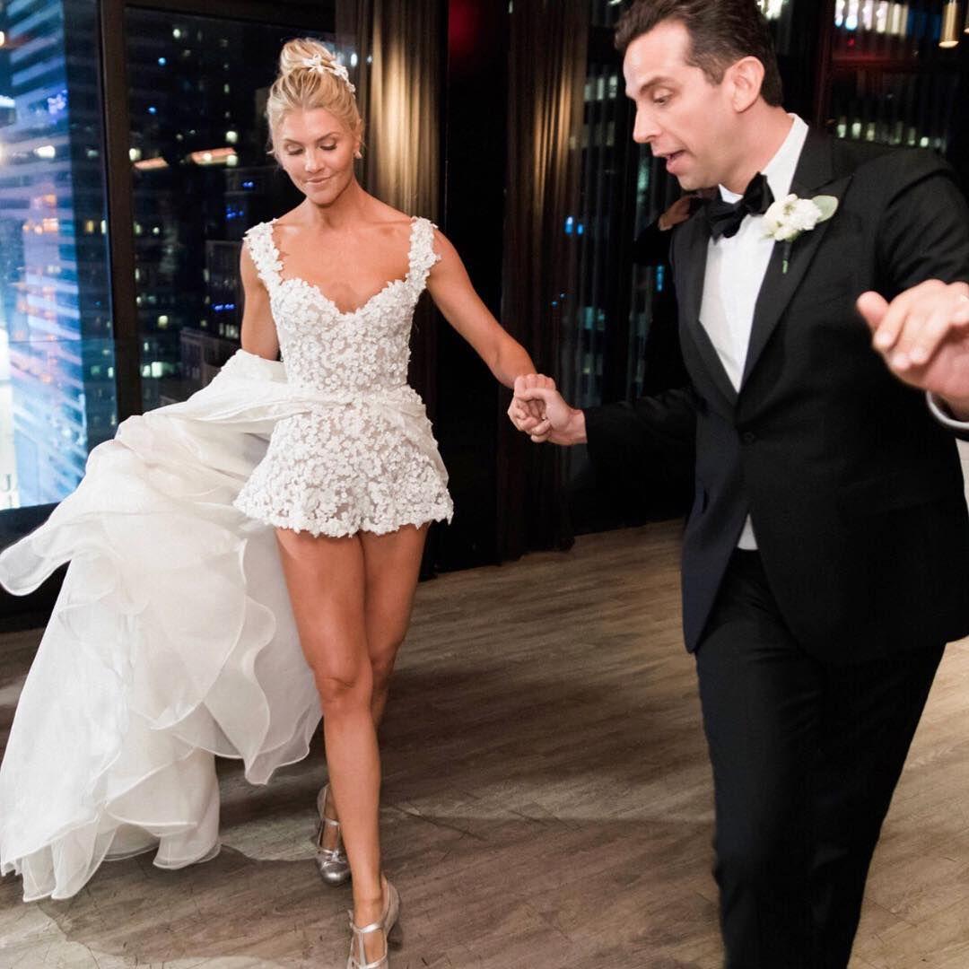 Celebrity Trainer In Wedding Reception Romper. Similar