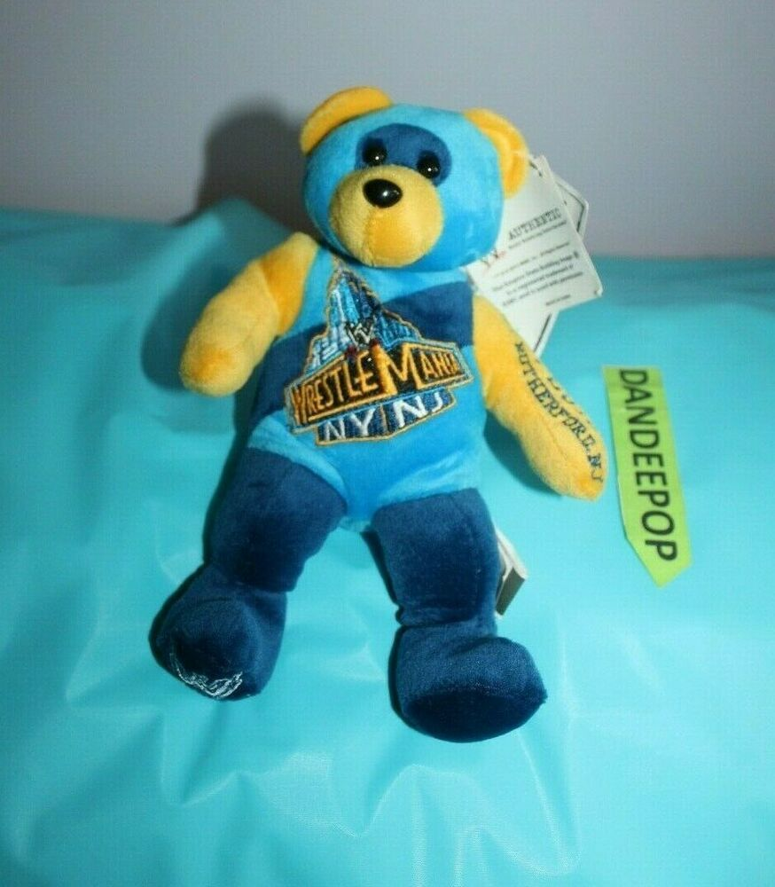 Details About Wrestlemania Forever Bear 4 7 2013 East Rutherford New Jersey Stuffed Animal Monkey Stuffed Animal Animal Plush Toys Plush Stuffed Animals