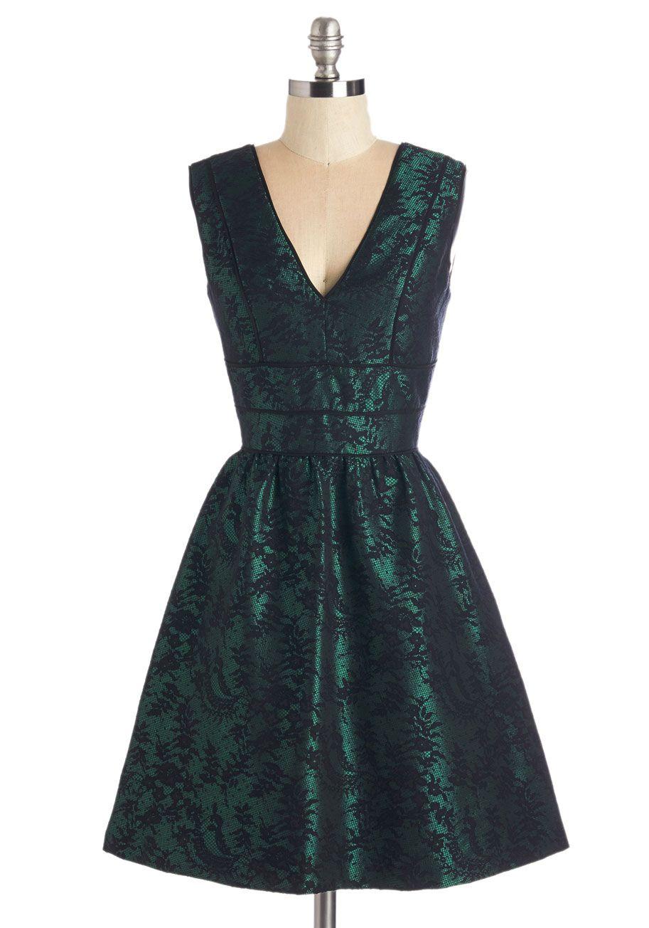 Emerald Aisle Dress | Mod Retro Vintage Dresses | ModCloth.com