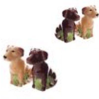 SITTING SPRINGER SPANIEL Dog Salt & Pepper Pots Shaker Cruet Set Gift UK SELLER