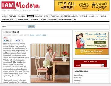 Mommy Guilt, I am Modern Magazine