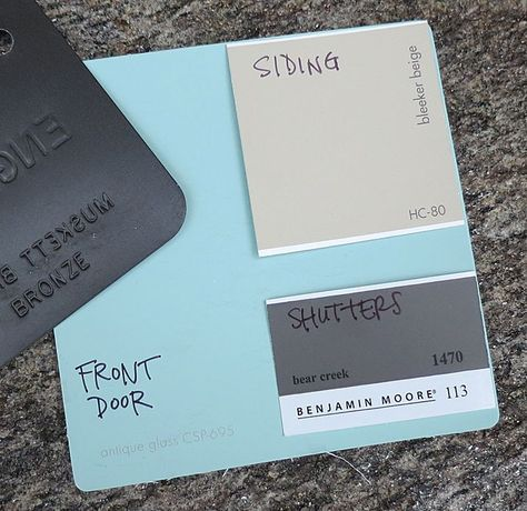 what color to go with for the front door and shutters Maybe a light