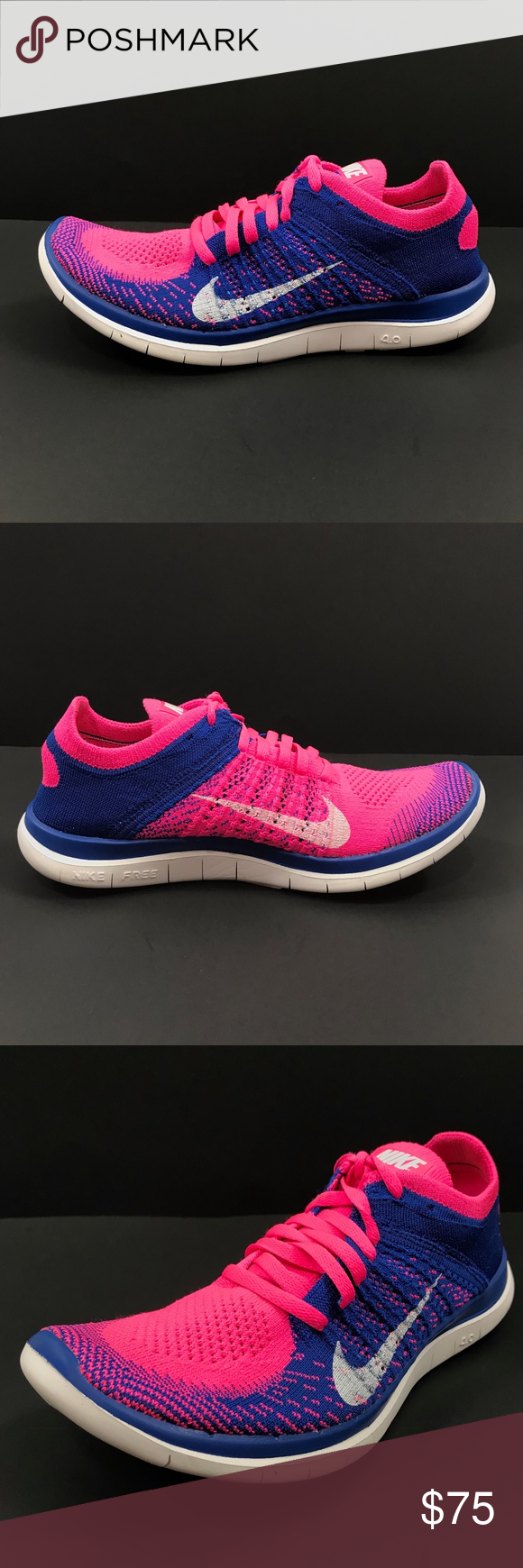 the best attitude ebe74 1f99d Nike WMNS Free 4.0 Flyknit Athletic Running Shoes Nike WMNS Free 4.0  Flyknit Running Shoes Pink