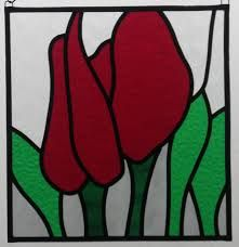 Image result for glas in lood tulpe