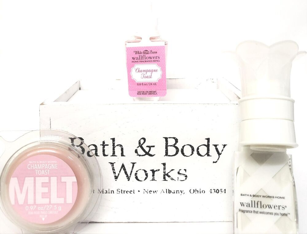 Bath And Body Works Champagne Toast Wax Melt Pink Label