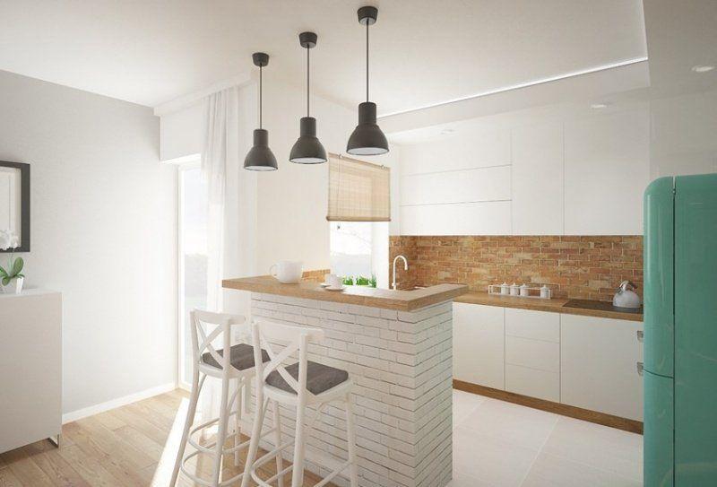 plan de travail cuisine 50 id es de mat riaux et couleurs bilo pinterest brique blanche. Black Bedroom Furniture Sets. Home Design Ideas