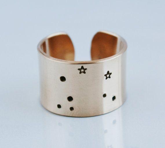 14K Gold fill Zodiac Constellation Ring zodiac ring by ZennedOut, $58.50