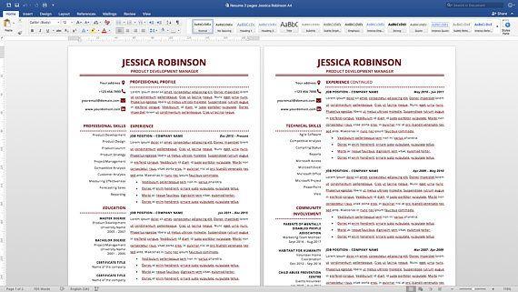 Modern Resume Template, Simple Resume Template, Classic Resume