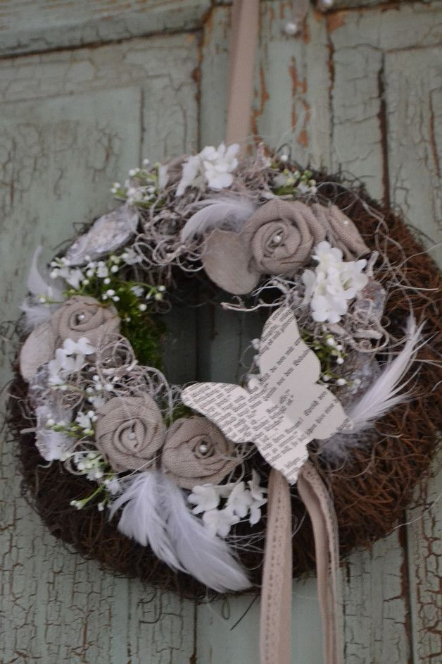 """Photo of Door wreaths – door wreath """"spring mood"""" – a designer piece by Blumenallee b …"""