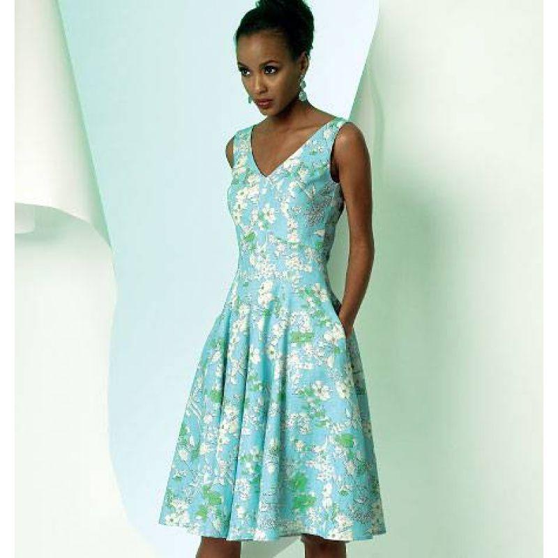 Vogue 8997 Kleid Gr. 32-48 | Kleider nähen, Nähen und Kleider