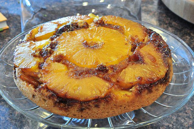 vegan pineapple skillet upside down cake   Flickr - Photo Sharing!