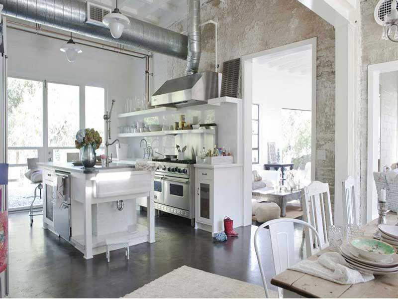 Cucina in muratura stile shabby chic | Kitchen ideas | Pinterest ...