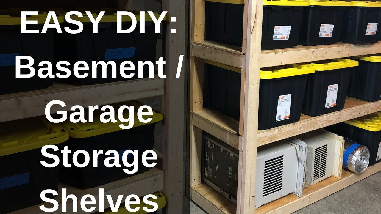 DIY How to Build Strong Storage Shelves for Basement or